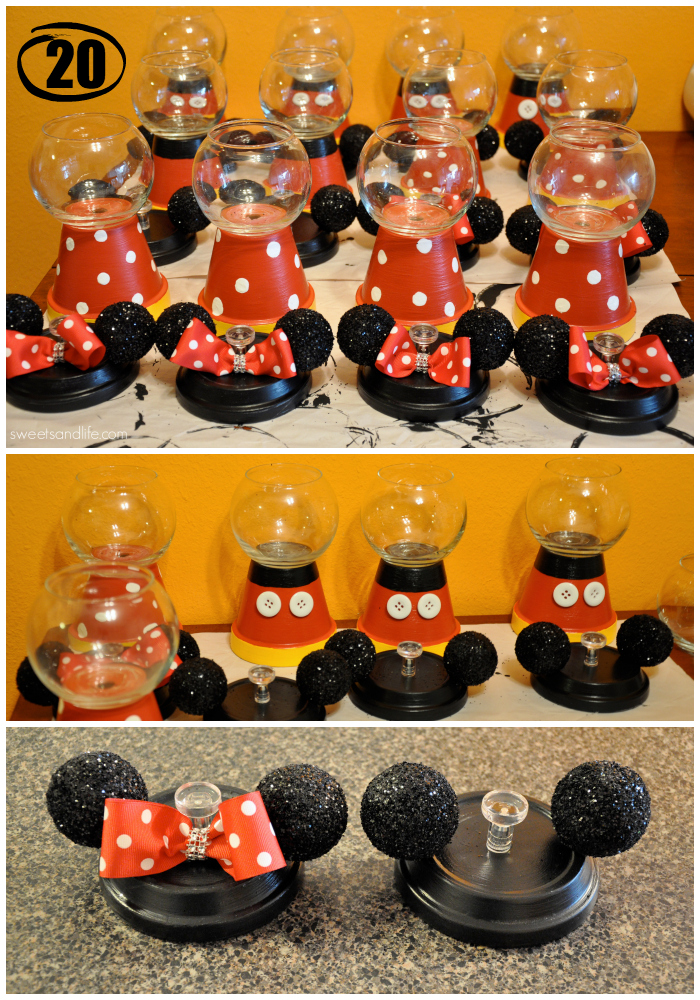 Diy Mickey And Minnie Mouse Gumball Machines Sweets And