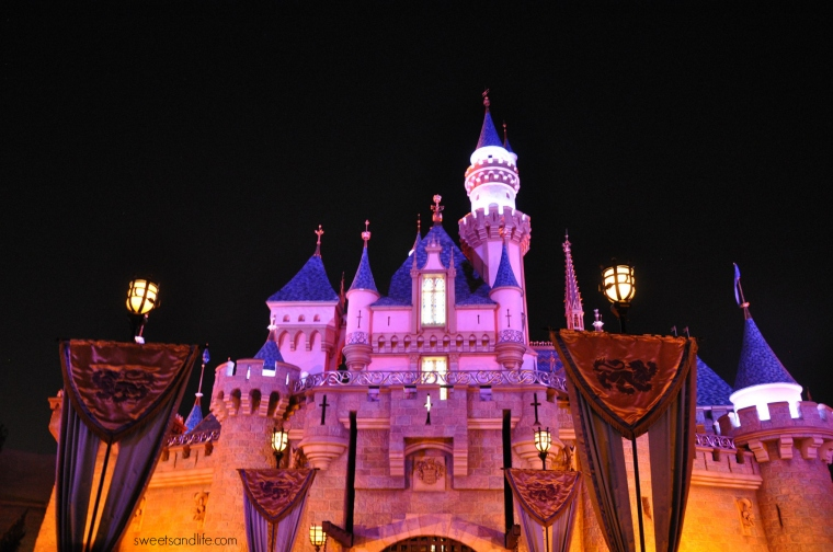 Sweets and Life: Sleeping Beauty's Castle at Night (Disneyland)