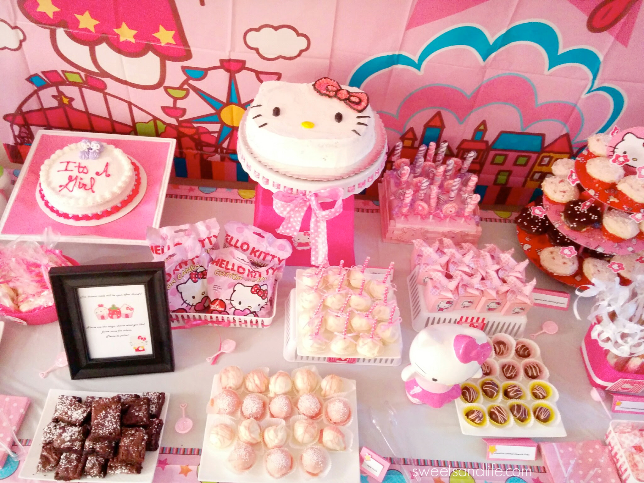Life A Hello Kitty Baby Shower Dessert Table Sweets And Life